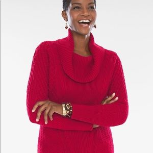 Chico's Mixed Stitch Cowl Sweater